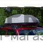 Автобокс на крышу Серый Turino 1 LUX (410 л) Аэродинамический на крышу автомобиля